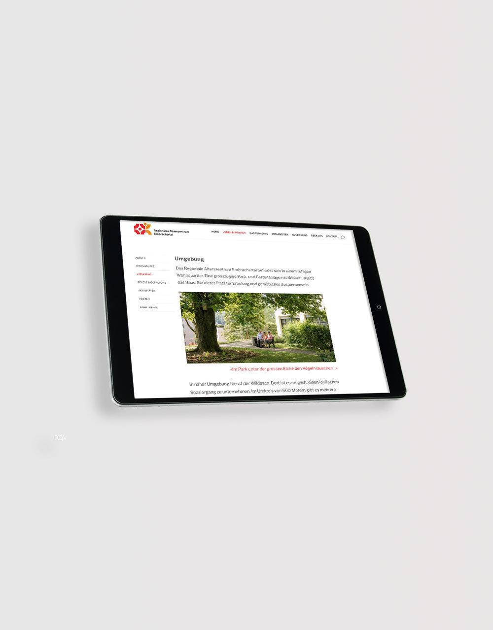 Webdesign, www az-embrachertal.ch, Layout, Konzept, Realisation, Vorschau