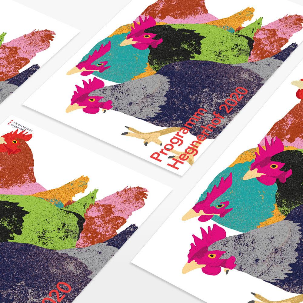 Vorschau Illustration Plakat Kulturprogramm Hegnerhof Kloten, Zürich